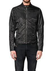 Diesel J Red Puff Bomber Jacket Black