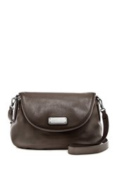 Marc By Marc Jacobs New Q Natasha Leather Crossbody Bag Gray