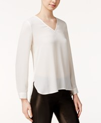 Bar Iii Sheer High Low Top Only At Macy's Egret