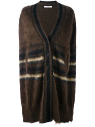 Givenchy Striped Button Up Cape Brown