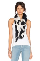 Marc Jacobs Big Sport Scarf Black And White
