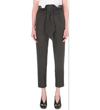 Anglomania Fung Fu Tapered Wool Trousers Forest