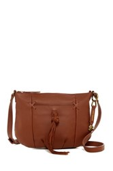 Lucky Brand Leather Carmen Crossbody Brown