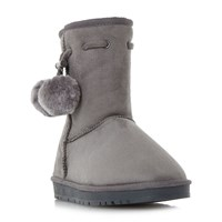 Head Over Heels Rozz Cleated Fur Lined Calf Boots Grey