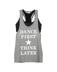 Dimensione Danza Tank Tops Grey