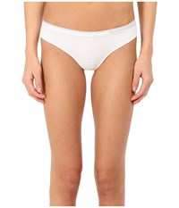 Emporio Armani Essential Stretch Cotton Brasilian Brief White Women's Underwear
