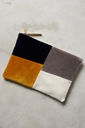 Anthropologie Asymmetry Pouch Yellow