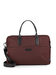 Uri Minkoff Fulton Nylon And Leather Crossbody Bag Bordeaux