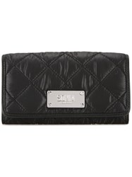 Sonia Rykiel By Quilted Flap Closure Wallet Black