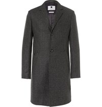 Nn.07 Nn07 Aaron Slim Fit Wool Blend Coat Charcoal