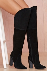 Nasty Gal Jeffrey Campbell Zylphia Leather Thigh High Boot