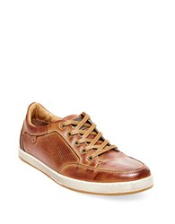 Steve Madden Partikal Perforated Leather Sneakers Tan