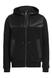 Marc By Marc Jacobs Hoodie With Leather Black