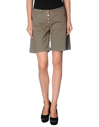 Trussardi Jeans Denim Bermudas Military Green