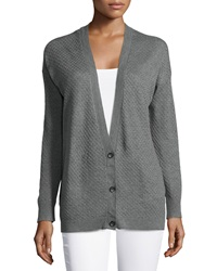 Soft Joie Fatimah Textured Long Cardigan Dark Heather Gray