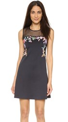 Clover Canyon Embroidered Dress Black