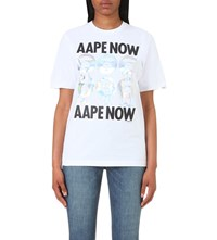 Aape By A Bathing Ape Now Cotton Jersey T Shirt White