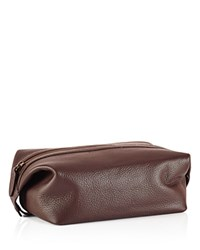 Polo Ralph Lauren Pebbled Leather Shaving Kit Brown