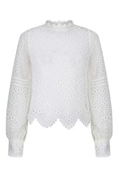 Glamorous Cut Out Blouse By White