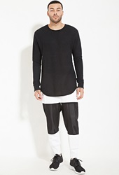 Forever 21 Cayler And Sons Contrast Paneled Sweatpants White Black