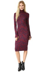 Rodebjer Turtleneck Knit Dress Navy Wine
