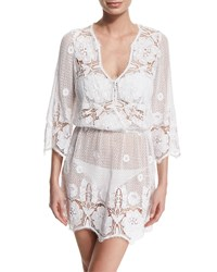 Miguelina Gertrude Netted Lace Dress Coverup Women's