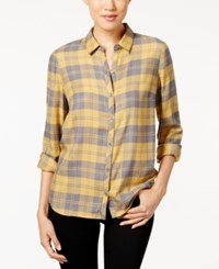 G.H. Bass And Co. Plaid Shirt Old Gold Combo