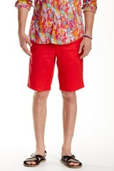 Ganesh Regular Fit Linen Short Red