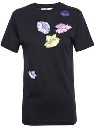 Christopher Kane Floral Sticker T Shirt Black