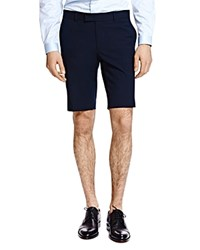 The Kooples Striped Seersucker Shorts Navy