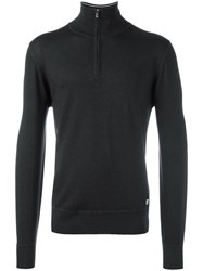 C.P. Company Cp Zipped Turtleneck Jumper Grey