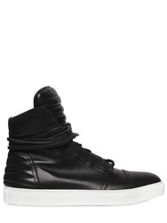 Diesel Black Gold Smooth Leather High Top Sneakers
