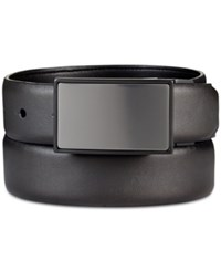 Kenneth Cole Reaction Men's Reversible Feather Edge Belt Grey Black