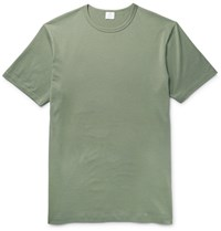 Sunspel Cotton Jersey T Shirt Green