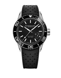 Raymond Weil Freelancer Pvd Coated Stainless Steel And Rubber Strap Watch Black