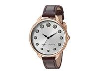 Marc Jacobs Betty Leather Three Hand Watch Oxblood Rose Gold Tone Watches Brown