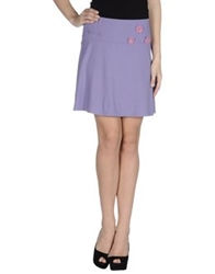 Just For You Knee Length Skirts Purple