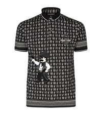 Dolce And Gabbana Old West Embellished Polo Shirt Male White