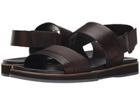 Calvin Klein Dex Brown Stud Emboss Leather Men's Sandals