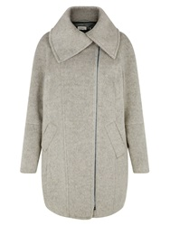 Kaliko Ivory Shawl Collar Coat Mid Grey Marl