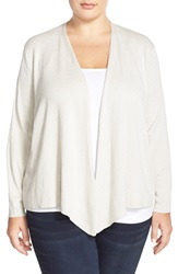 Nic Zoe 4 Way Convertible Cardigan Plus Size Silvercloud
