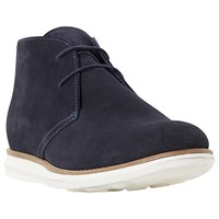 Dune Cove Wedge Chukka Boots Navy