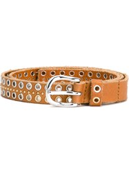 Diesel Eyelet Buckle Belt Brown