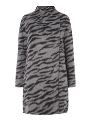 Marella Trinity Animal Print Coat Grey