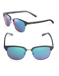Polaroid 54Mm Modified Wayfarer Sunglasses Black Blue