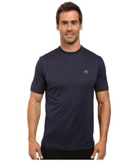 Travis Mathew The Hg Heather Dark Denum Men's Short Sleeve Knit Blue