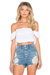 Auguste Boho Baby Crop Top White