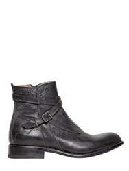 Frye Waxed Leather Boots Black