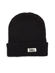 Saks Fifth Avenue Chill Out Knit Beanie Black