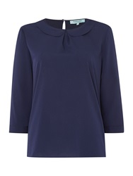 Dickins And Jones Peter Pan Collar Blouse Navy